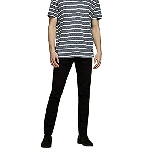 JACK & JONES Male Slim Fit Jeans Glenn ICON JJ 177 50SPS 3434Black Denim