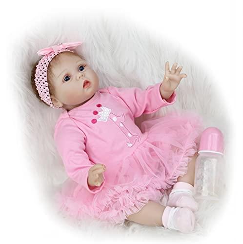 ZIYIUI Reborn Bambole 22 Pollici 55 cm Bambole Reborn in Silicone Morbido Realistica Bambola Che Sembra Bimba Vera Sveglia dolldella Ragazza del Ragazzo Bambini Giocattolo Reborn
