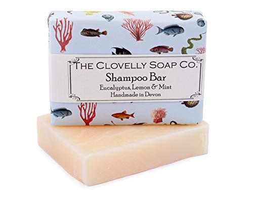 Clovelly Soap Co Natürliche handgemachte Haarseife Eukalyptus, Minze & Zitrone für trockene bis normale Haare & kopfhaut 100g