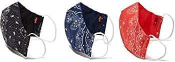 3-Pack Levi's Re-Usable Bandana Print Reversible Face Mask