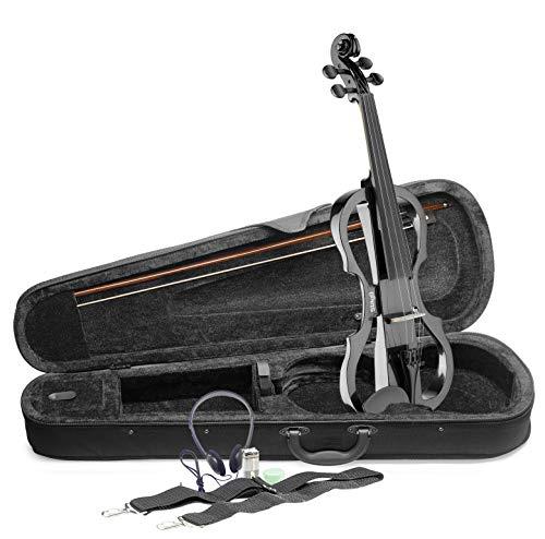 Stagg EVN x-4/4MBK voller Größe Elektrische Violine Outfit–Schwarz