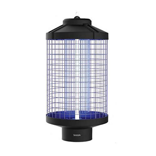 Electric Bug Zapper | Indoor/Outdoor Mosquito & Fly Insect Killer with Wide Area Coverage UV LED Light | 5,000+ Sq. ft. | SereneLife PSLBZ58