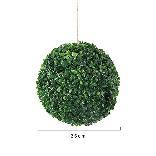 SYLTL Eukalyptusball Kugel Künstlich Erdnussball Buxkugel Für Hochzeit/büro/zuhause Dekoration Grüne Pflanze,A26 cm