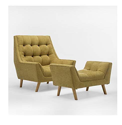 LC-SHBAGS Ohrensessel Badewanne Stuhl Nordic Designer Sessel Mit Fußstütze, Einfache Moderne Wohnzimmer Schlafzimmer Freizeit Single Sofa Stuhl Camel
