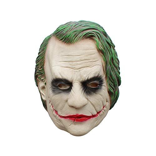 KOBWA Máscaras de látex para Halloween, película Pennywise Cosplay It Mask Dark Knight Joker máscara para Adultos o niños Mayores de 6 años, The Dark Knight