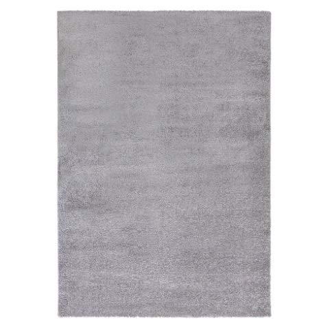 HMWD Elite Modern Plain 160x230cm Shaggy Area Rugs Non-Shedding Deep Pile Non-Slip Livingroom Bedroom Hallway Floor Carpet Runner Mat - Available in 7 Exquisite Colors (Silver Grey)