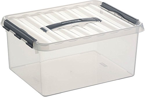 Helit H61626 sunware Box 15l H6162602 mit Griff, durchsichtig