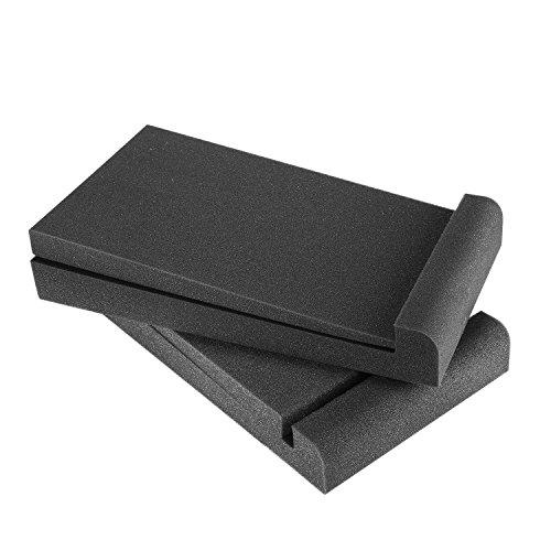 """Neewer 2 Paquetes Almohadillas Aislamiento para Monitores de Estudio para Monitores 5\"""",Fabricados con Espumas Acústicas de Alta Densidad,29x16cm Compatible con Mayoría de Cajas de Altavoces 5\""""(Negro)"""