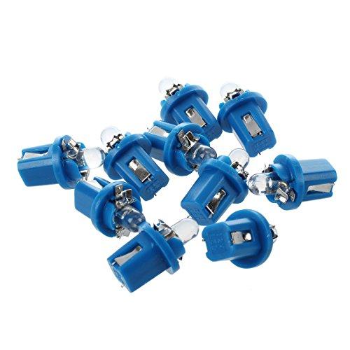 Bayda 10 T5 Bombilla LED con Luz Azul para Salpicadero coche 12V