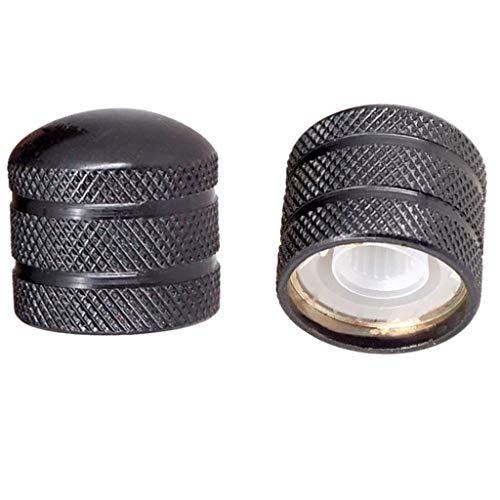 Gazechimp Manopole di Controllo della velocità della Chitarra in Metallo Nero 2 Pezzi per Diametro 6 Mm (0,24 Pollici) Shaft Pots - Parti di Ricambio per Pulsan