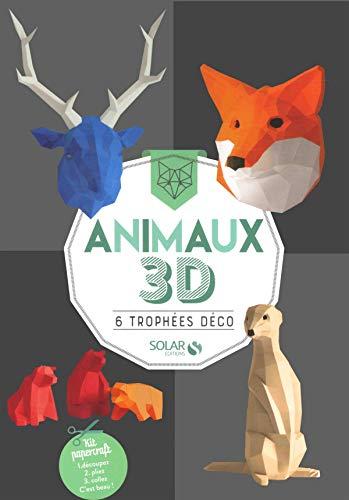 Animaux 3D - 6 trophées déco