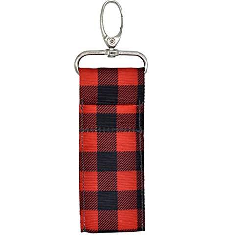 WFRAU Lippenbalsam Chapstick Pouch Strap Schlüsselring Tasche Lippenstifthalter mit Schlüsselbund Chapstick Holder Beutel Tasche Perfekte Aufbewahrung Schlüsselring Drucken Schlüsselbund Geschenk