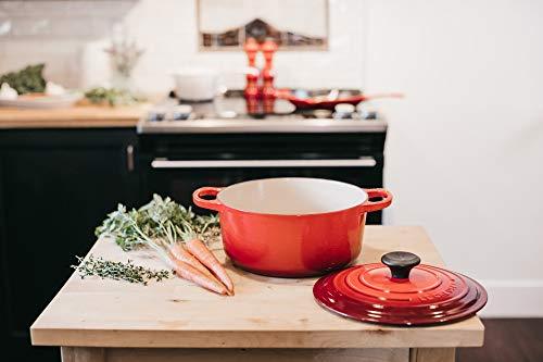 Le Creuset Enameled Cast Iron Signature Round Dutch Oven, 7.25 qt., Cerise