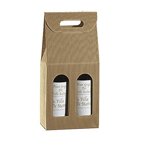 Garcia de Pou Unidad de 30 Cajas de cartón 2 Botellas, Papel Kraft, Natural, 18 x 9 x 34 cm: Amazon.es: Hogar