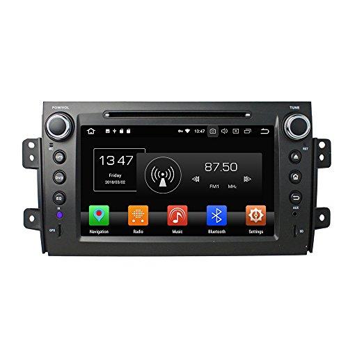 KUNFINE Android 10 Octa Core 4G Ram 32GB ROM Autoradio GPS Navigation DVD Multimedia Player Steering Wheel Control Headunit Stereo for Suzuki SX4 2006-2012