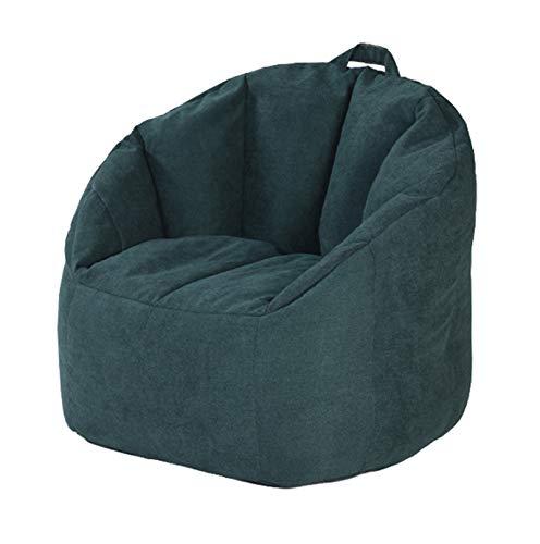 AGVER Abnehmbarer Bezug Für Sitzsack Aus Polyester-Lintergewebe Sitzsack Stuhlbezug Ohne Füllung Weich Und Bequem,Dark Green