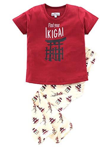 NITE FLITE Girls' Ikigai Cotton Nightwear | Top and Pyjama...