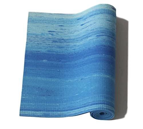 N\C Esterilla de Yoga de PVC Arcoíris Ecológica, Engrosamiento de Alta Densidad de 6 mm, con Dos Tamaños de 173CMX61CM y 183CMX61CM, con Fuerte Resistencia al Desgarro y Agarre