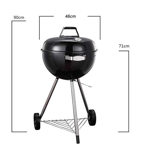 41jjMxjk02L. SL500  - M-YN Tragbarer Holzkohlegrill Edelstahl Barbecue Grill Smoker Holzkohlegrill for Camping Picknick im Freien Garten-Party Grill BBQ, (Color : Red)