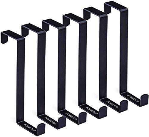 ACMETOP 6 Pack Over The Door Hook, Z-Shaped Reversible Door Hooks, Dual Head Single Over Door Hooks Fits 1-3/8