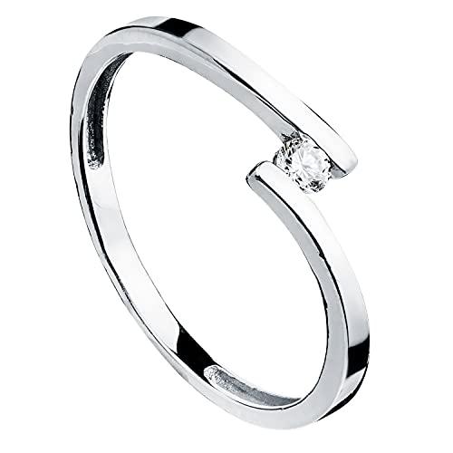 Anillo de mujer compromiso aniversario Sophie oro blanco 18 kilates 750 Mls circonita ideal pedida de mano (12)