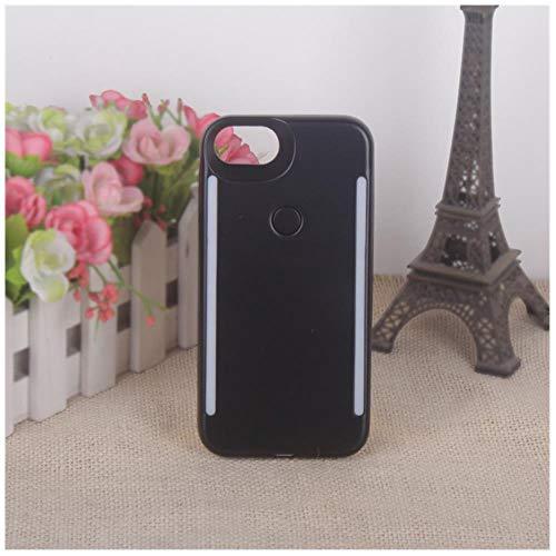 LIANLI - Carcasa para iPhone 11 Pro Max con luz de relleno para iPhone X 7 Plus Selfie, Negro , For iPhone 11