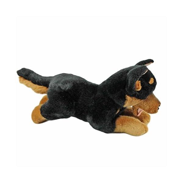 Bocchetta Plush Toys Gadget Australian Kelpie Dog Lying Stuffed Animal Toy Small Black and tan, 28cm/11 2