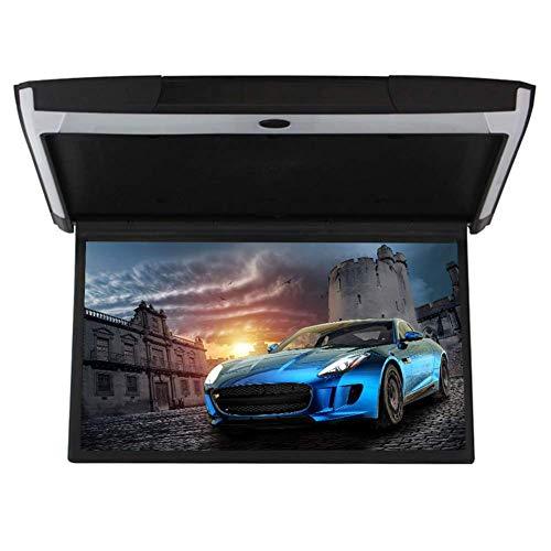 19 pulgadas de coche Android 6,0 Flip Down monitor HDMI 1080P HD TFT LCD de arriba reproductor de vídeo para coche SD MP3 MP5 LED con USB TF HDMI WiFi Mirror Link beige,Negro