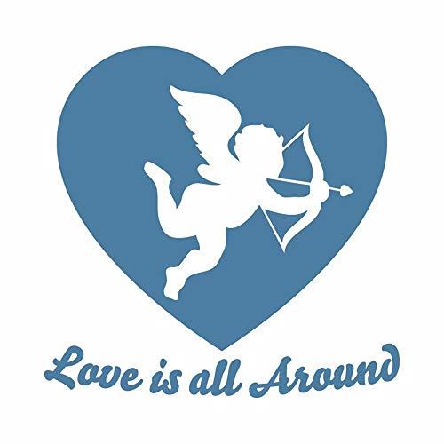 Dtcrzjxh Pegatinas De Pared 3D Decoración Para El Hogar Sala De Estar Cupido Vinilo Decorativo Para El Día De San Valentín Vinilos Decorativos De La Habitación Matrimonial, G