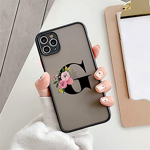 Custodia protettiva per iPhone 11 12 Mini Pro Max X XS XR 7 8 Plus SE 2020 Flower Clear Matte Cover rigida per iPhone X o XS