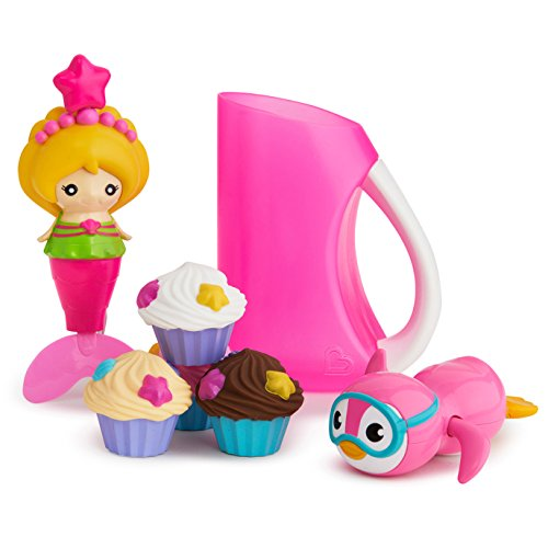 Munchkin Under The Sea Bath Toy & Shampoo Rinser Set, Pink