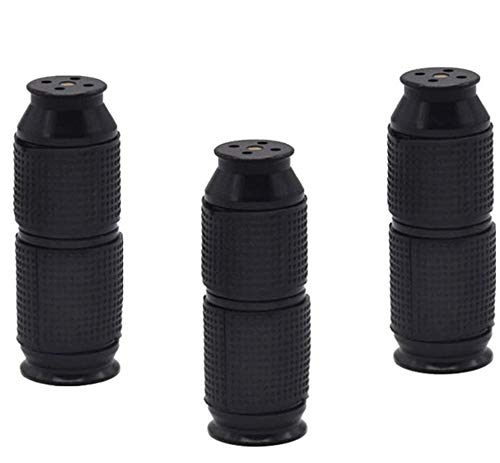 Youning 3 Stück Mini Aluminiumlegierung Edelstahl Spritztüllen 71 * 17MM- Creames-Bottle -Opener Cigarette Korkenzieher (schwarz-3PCS)
