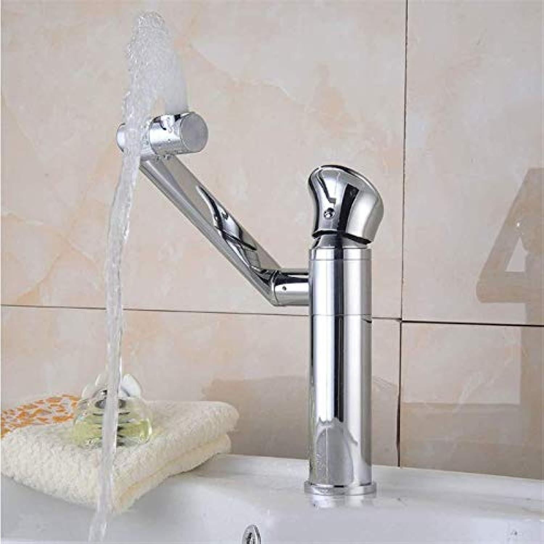 Hjbds becken waschbecken wasserhahn moderne verchromte hohe dreh heies und kaltes wasser rotierenden kupfer bad wasserhahn wasserhahn