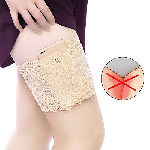 Elastische Oberschenkelbänder, Beine Reiben Aneinander Sexy Lace Schenkel Band Socken Strumpfband Thigh Bands Oberschenkel Bandage Silikon Bänder