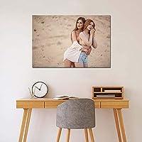 砂漠でセクシーな美しい女の子の壁のアートポスターキャンバス絵画リビングルームの装飾のための印刷画像60X90cm24x36inchフレームなし