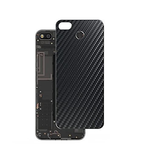 Vaxson 2 Unidades Protector de pantalla Posterior, compatible con Fairphone 3, Película Protectora Espalda Skin Cover - Fibra de Carbono Negro