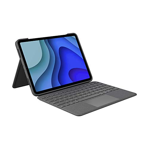 Logitech Folio Touch iPad Keyboard Case with Trackpad and Smart Connector for iPad Pro 11-inch (1st, 2nd, and 3rd Generation) – Grey