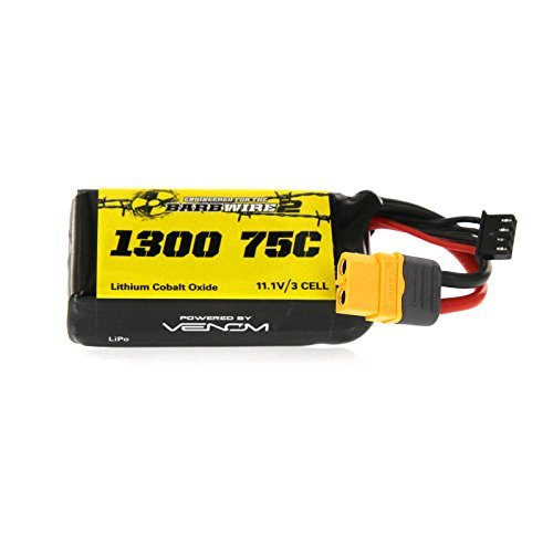 Venom 75C 3S 1300mAh 11.1V LiPo Battery Engineered for Atomik RC Barbwire 2 Ready to Rip RTR Racing Speed Boat
