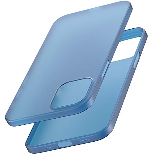 TOZOのiphone 12 mini ケース 5.4インチ 超軽量ハードカバー 超薄型[0.35mm] 世界最薄の保護ケース アイフォン 12 ミニ カバー 青い