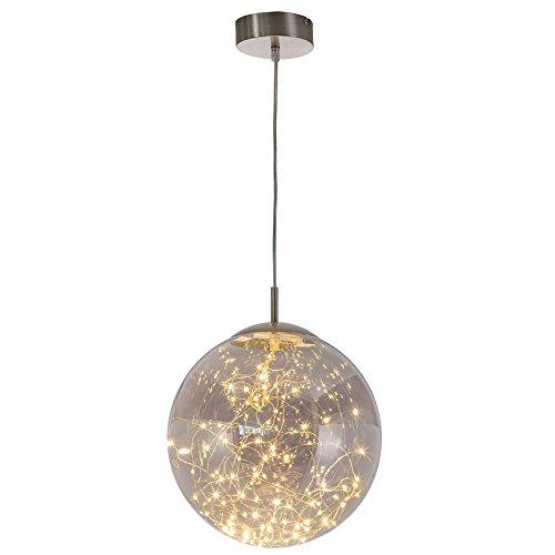 LED Hänge Decken Lampe Ess Zimmer Glas Kugel Lichterkette Pendel Leuchte Nino Leuchten 34153002