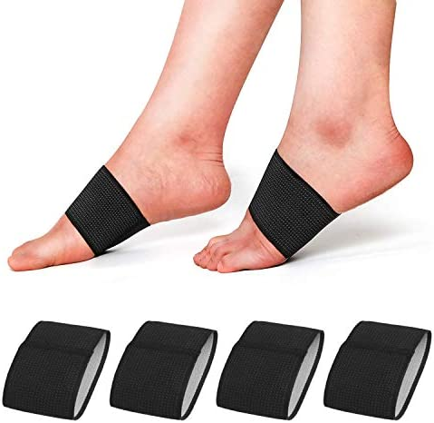 RooRuns Compression Arch Support Sleeves Plantar Fasciitis Support Orthotics Foot Wrap for Flat product image