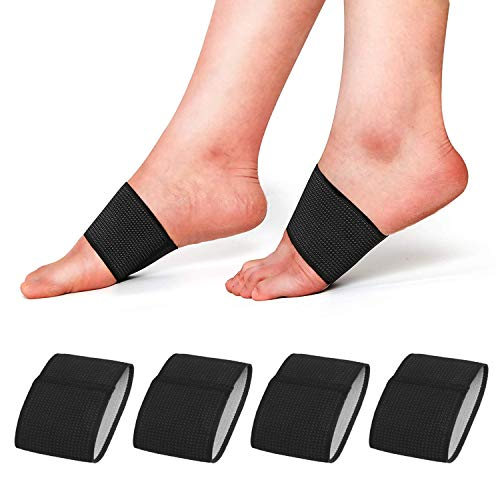 RooRuns Compression Arch Support Sleeves, Plantar Fasciitis Support Orthotics Foot Wrap for Flat Feet, Heel Spurs, Fallen Arches, Compression Plantar Fasciitis Brace for Men and Women (2 Pairs)
