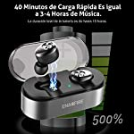 Auriculares Bluetooth, ENACFIRE E18 Auriculares Bluetooth Inalámbricos Mini Twins Estéreo In-Ear Bluetooth 5.0 con Caja de Carga Portátil Y Micrófono Integrado para iPhone y Android
