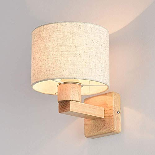 Beautiful Home Lighting/binnenwandlamp Vintage Solid Infixi oogschaduw hout verlichting 1 wandverlichting E27 Edison voor kinderkamer woonkamer keuken