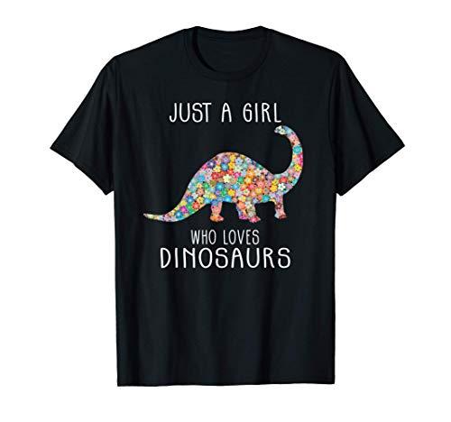 Girls Loves Dinosaurs Dinosaurier Mädchen Teenager T-Shirt