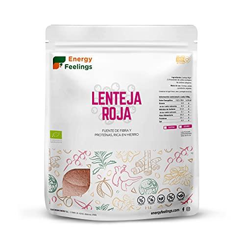 Energy Feelings Harina De Lentejas Rojas Eco, color Rojo, 1000 g