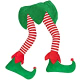 "23"" Christmas Elf Stuffed Legs Stuck Tree Topper Decorations -Xmas Holiday Indoor Outdoor Decor Party Ornaments"
