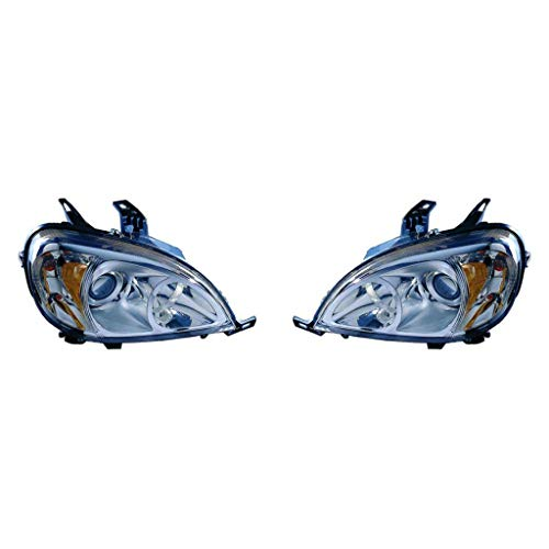 For Mercedes Benz ML350 Headlight Assembly 2003 2004 2005 Pair Driver and Passenger Side For For MB2502114