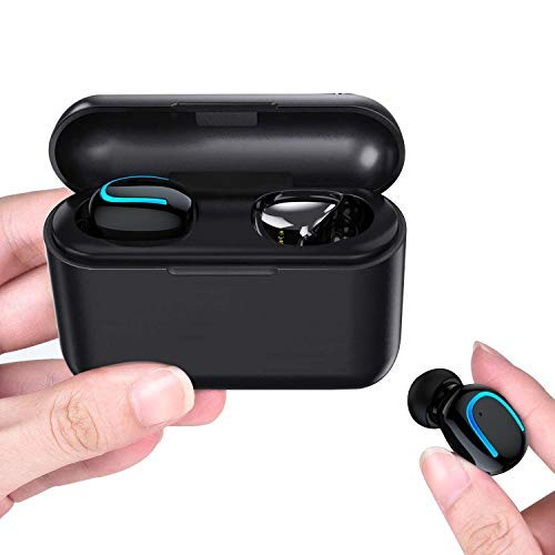 BIGFOX Auricolari Bluetooth,Cuffie Bluetooth 5.0,Auricolari Wireless Bluetooth Senza Fili Stereo TWS per iPhone Samsung Xiaomi Huawei Sony (Q32)