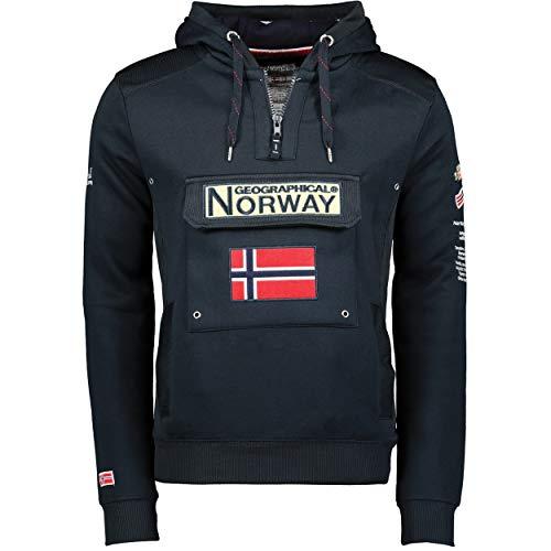 Geographical Norway - Sudadera DE Hombre GYMCLASS Azul Marino XL